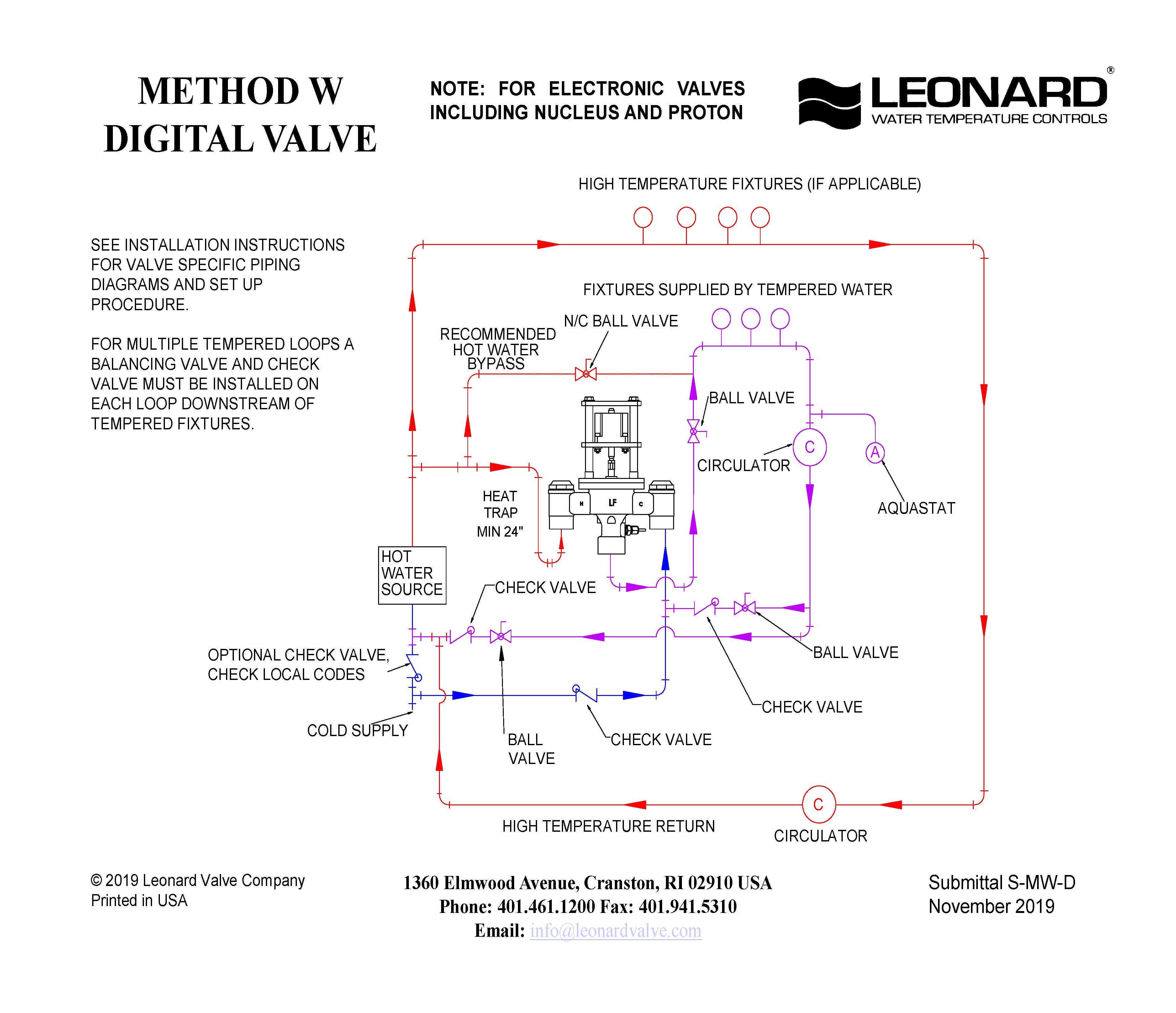 Radiant Mixing Valve Piping Diagram
